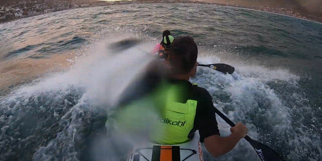 TAKING ON THE SEA DOG RACE IN A TRIPLE SURFSKI