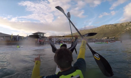THE FIRST BLIND PADDLER TO EVER FINISH THE SEA DOG RACE