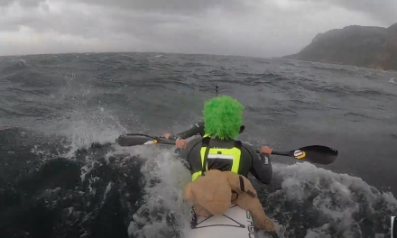 TEDDY'S FIRST AND LAST DOWNWIND PADDLE